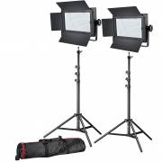 BRESSER LED Photo-Video Set 2x LG-600 38W/5600LUX + 2x tripod
