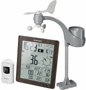 BRESSER ClimaTemp XXL Weather Center with 21x24x2,5cm Display in wooden Design