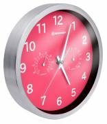 BRESSER MyTime Thermo-/ Hygro- Wall Clock 25cm - pink