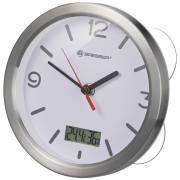 BRESSER MyTime Thermo-/Hygro Bath Clock - white