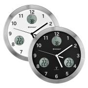 BRESSER MyTime io radio controlled Wall Clock with Temperature and Humidity Measuring- Diameter 30 cm