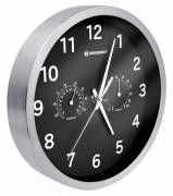 BRESSER MyTime Thermo-/ Hygro- Wall Clock 25cm - black