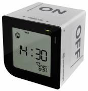 BRESSER FlipMe Radio Controlled Alarm Clock silver