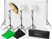 BRESSER BR-2120 Daylight Set 1600W and Background System