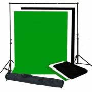 BRESSER BR-BGS2 Set 2 - Background System + Backgrounds 3 x 6 m in 3 colours