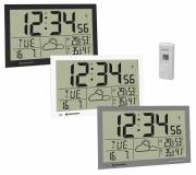 BRESSER MyTime Jumbo LCD Weather Wall Clock