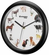 BRESSER Junior Children's Wall Clock with Animal Sounds