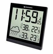 BRESSER TemeoTrend JC LCD Weather-Clock black