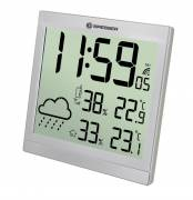 BRESSER TemeoTrend JC LCD Weather-Clock silver