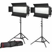 BRESSER LED Photo-Video Set 2x LG-900 54W/8.860LUX + 2x tripod