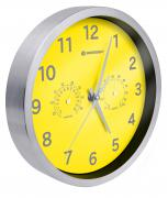 BRESSER MyTime Thermo-/ Hygro- Wall Clock 25cm - yellow