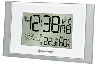 Bresser WoW200 Wireless Weather Station for wall mounting, white/silver