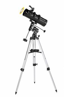 BRESSER Telescope Pluto 114/500 EQ with Smartphone Camera Adapter