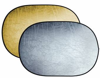 BRESSER BR-TR5 2-in-1 collapsible Reflector gold/silver 100x150cm