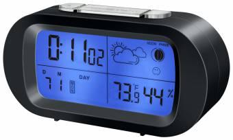 BRESSER MyTime Temeo LCD Alarm Clock black