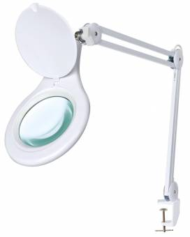 BRESSER 2x 125mm Magnifying Clamp-On LED Desk Lamp