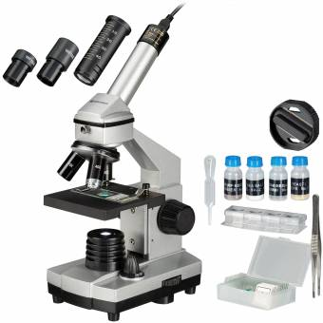 BRESSER JUNIOR 40x-1024x Microscope with HD Eyepiece Camera