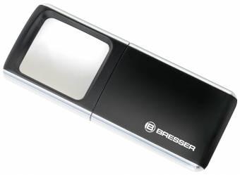 BRESSER LED Pop-Up Magnifier 3x 35x50mm