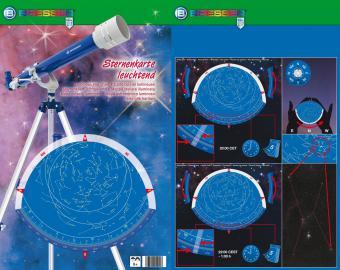 BRESSER JUNIOR Star Map, fluorescent