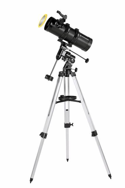 BRESSER Telescope Pluto 114/500 EQ with Smartphone Camera Adapter