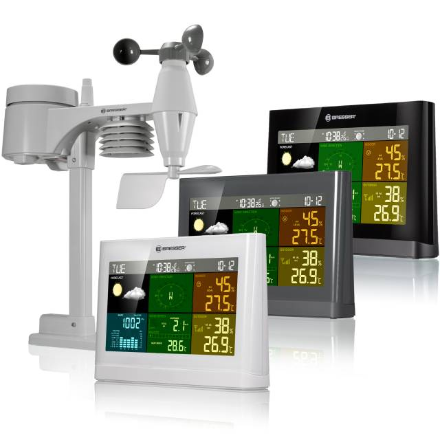 BRESSER 5-in-1 Comfort Weather Center with Colour Display