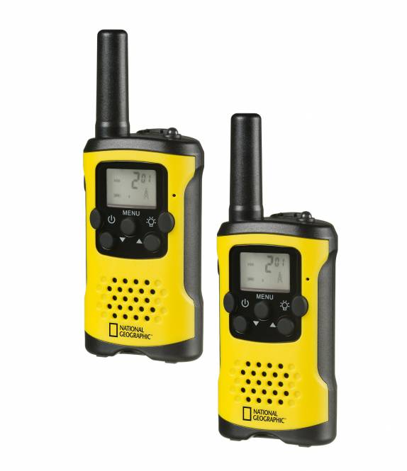 NATIONAL GEOGRAPHIC FM Walkie Talkie 2piece Set with large range up to 6 km and free hand mode
