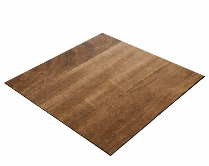 BRESSER Flat Lay Background for Tabletop Photography 40x40cm Teakwood