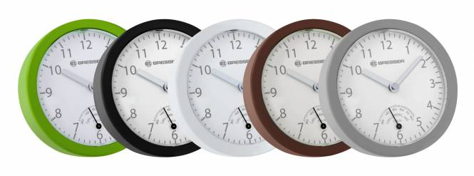 BRESSER MyTime Bath mini Bathroom clock