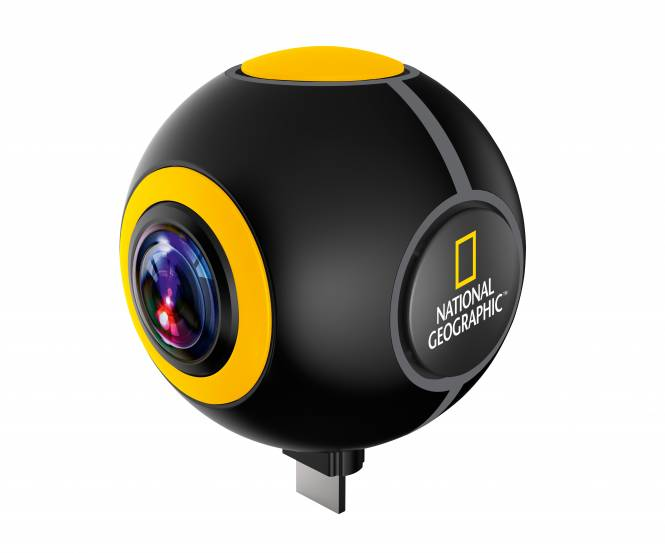 NATIONAL GEOGRAPHIC HD 1024P 720° Android Action Camera Spy