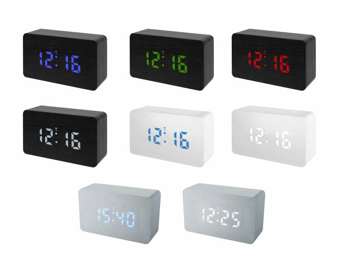 BRESSER MyTime W Color LED RC Alarm Clock