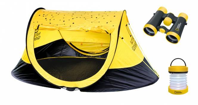 NATIONAL GEOGRAPHIC Outdoor Set (Tent, 4x30 Binoculars, Lantern)