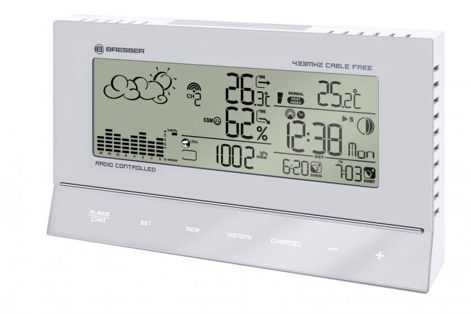 BRESSER BF-7 RC Weather Station, silver/white