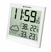 BRESSER TemeoTrend JC LCD Weather-Clock white